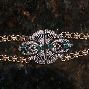 Vintage Inspired Emerald Bracelet